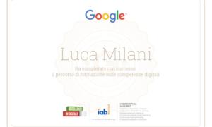 Eccellenze in digitale – Certificato