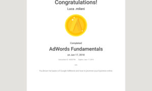 Ad Words Certification