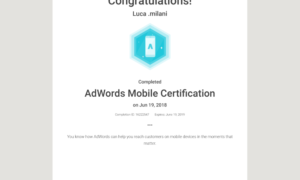 Ad Words Mobile Certification